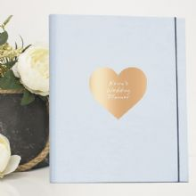 A4 Luxury Wedding Planner/Organiser featuring Personalised Metallic Heart - Ideal Engagement Gift
